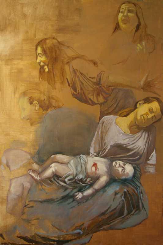 Ołtarz Smoleński – Rzeź Niewiniątek; prawe skrzydło