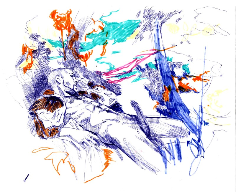 submission, 2013, drawing on paper