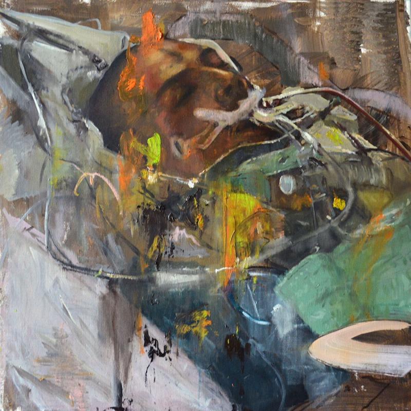 900 Coma (2), 2017, oil on canvas, 50x50