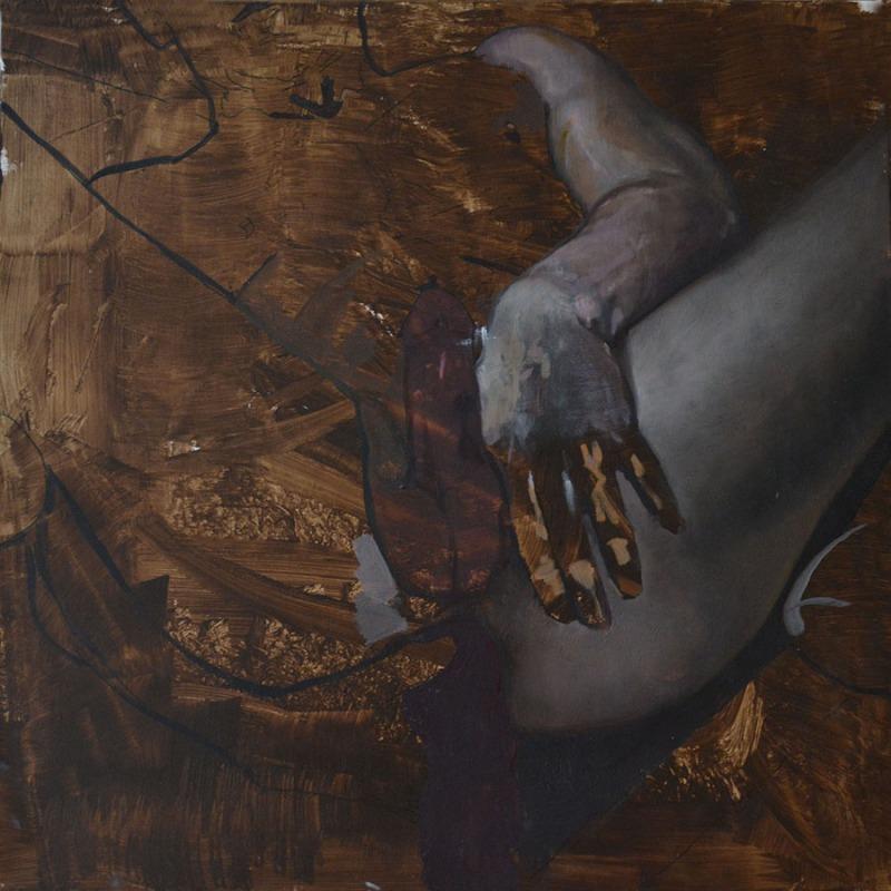 900 comoposition with a dildo, 2016, oil on canvas, 50x50